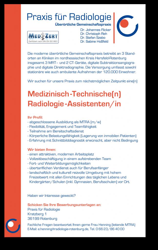 Radiologie Rotenburg » Jobs